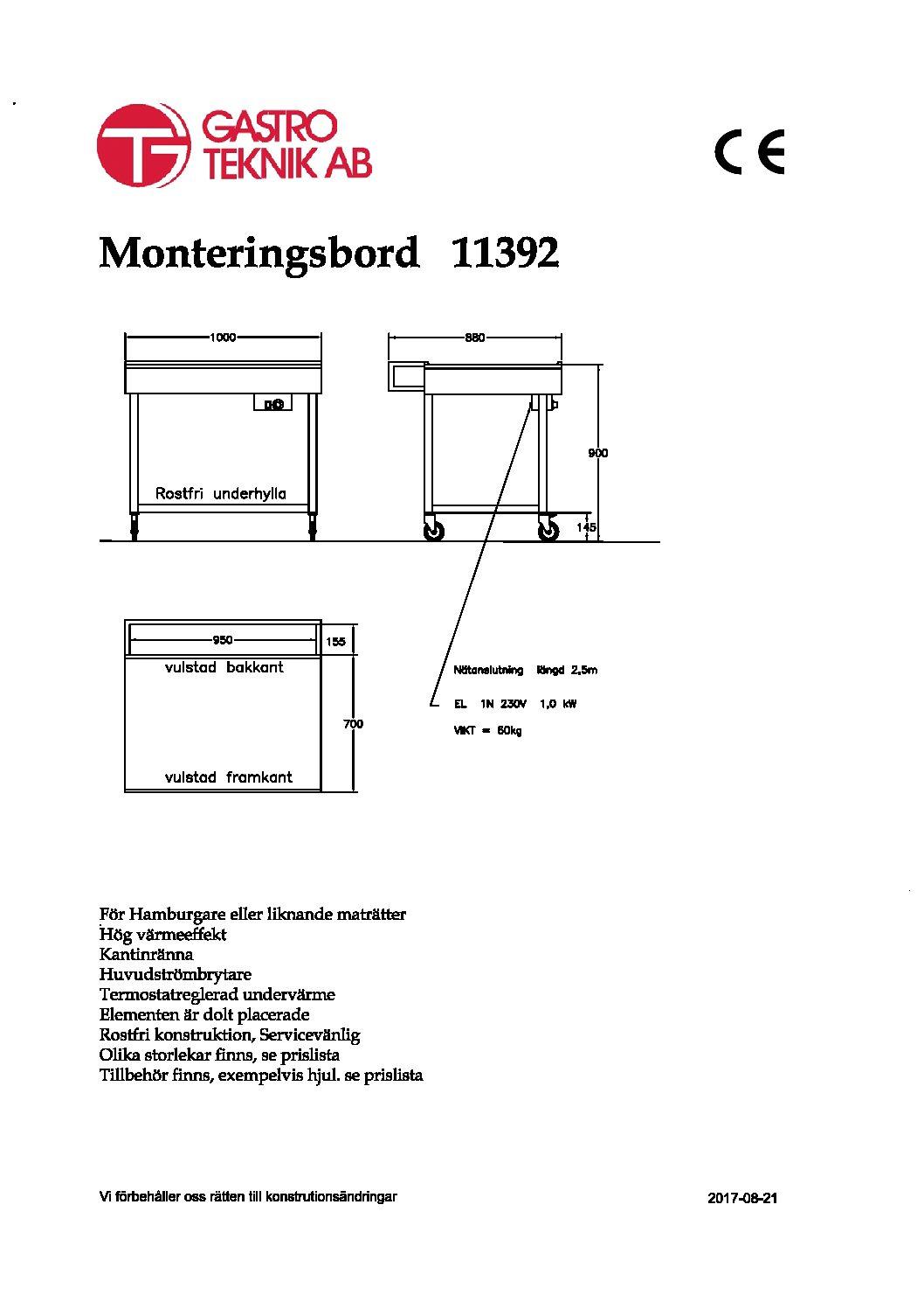 Monteringsbord / Värmebord