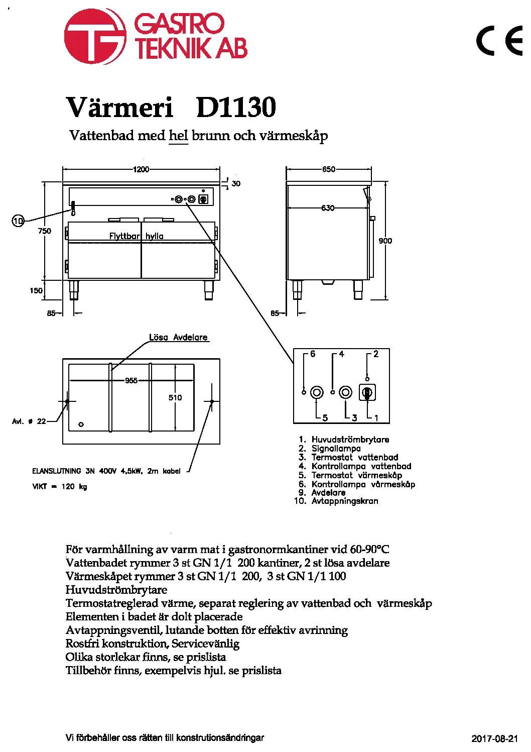 Värmeri / Vattenbad med värmeskåp