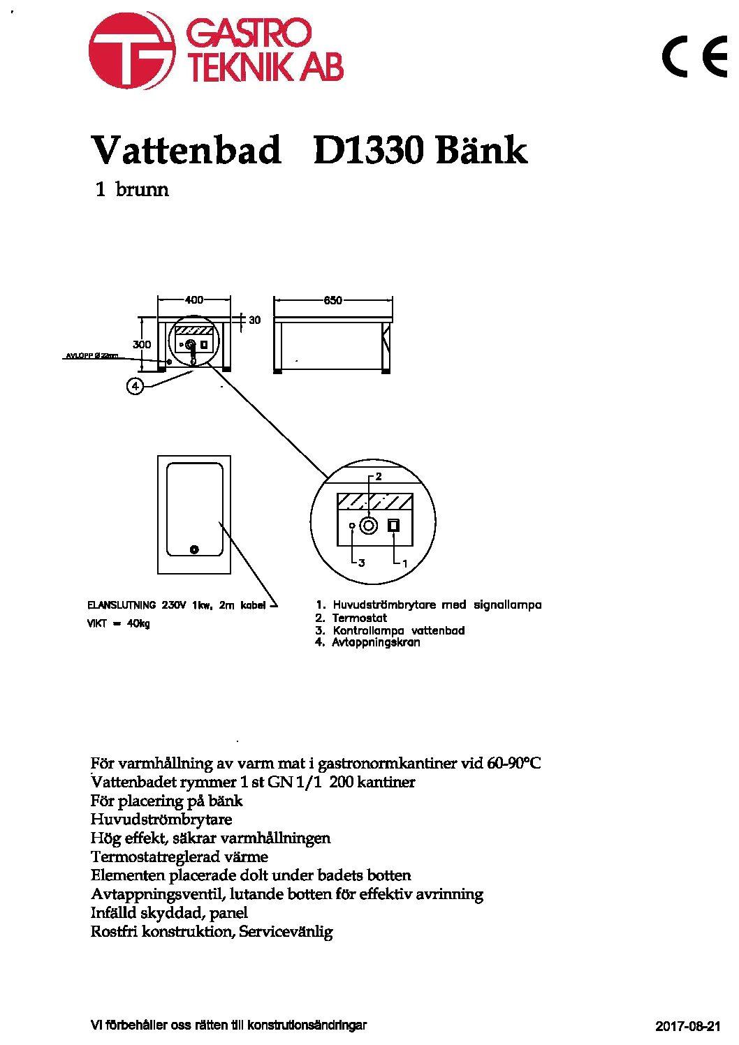 D1330-Bänk