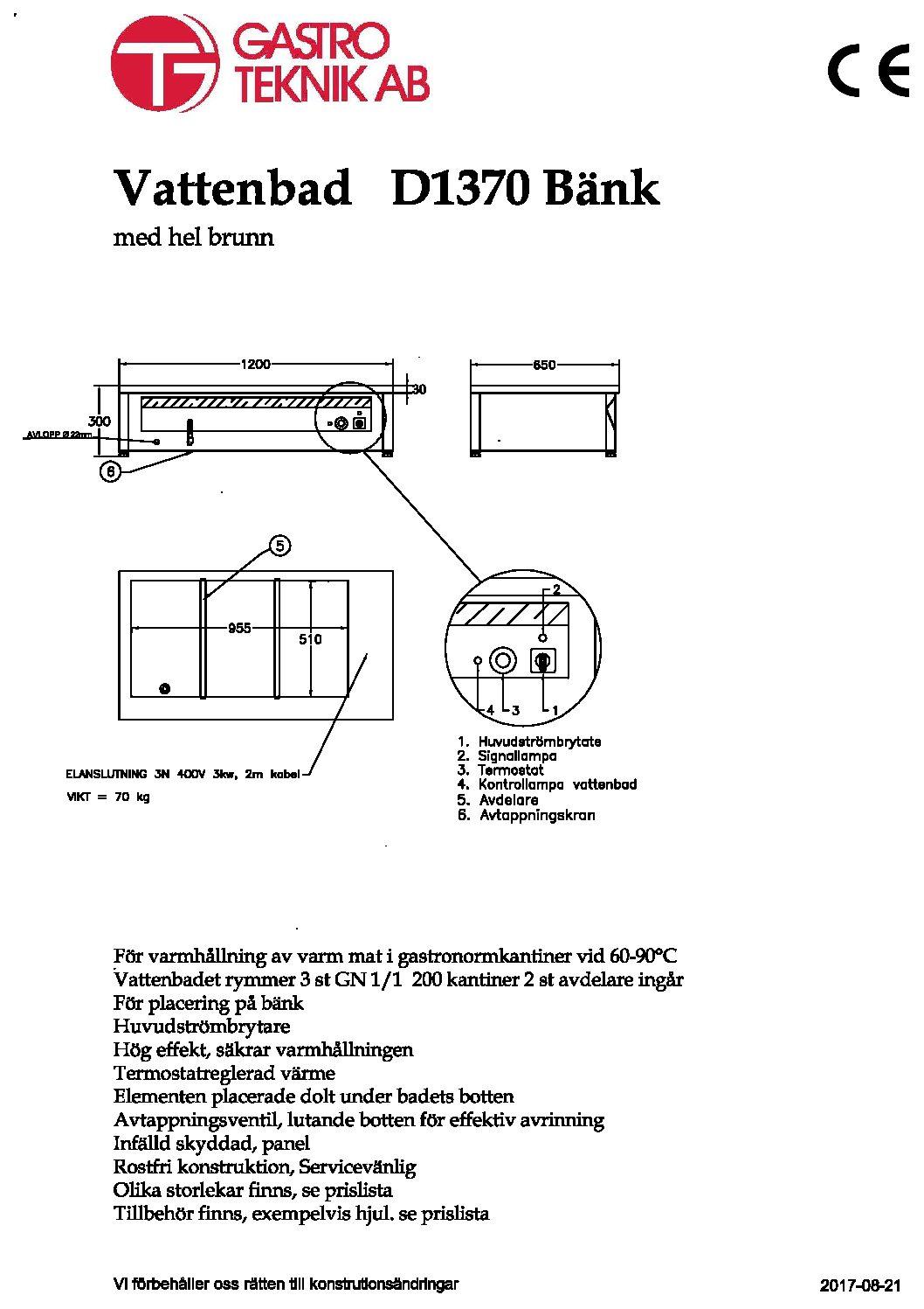 D1370-Bänk