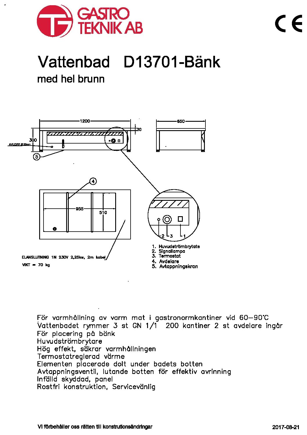 D13701-Bänk